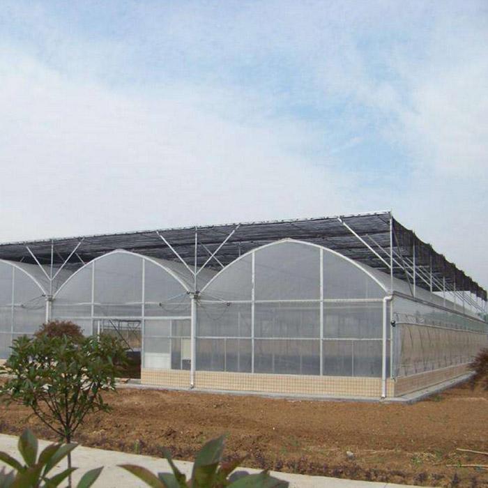 潍坊连栋薄膜温室造价怎样|玻璃连栋温室