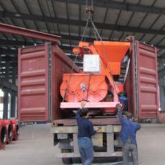 移动式水槽机械发货现场