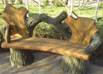 西安仿木仿石园林小品