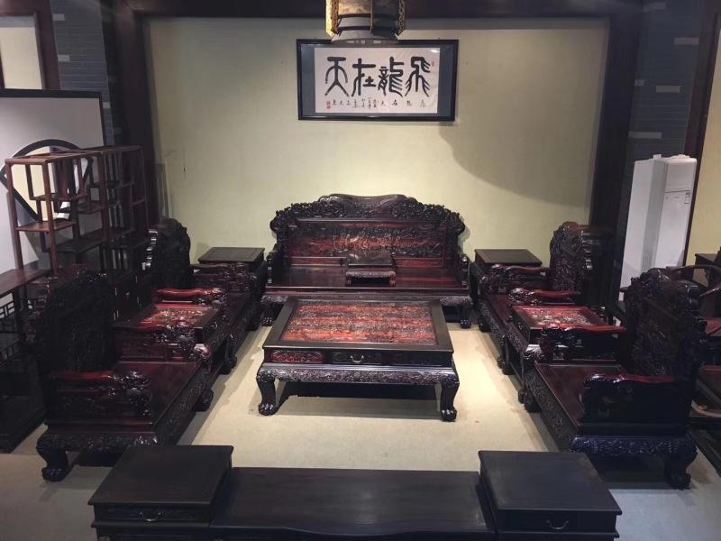 红木家具老挝原木大红酸枝家具红木沙发大红酸枝老料新款荣华富贵