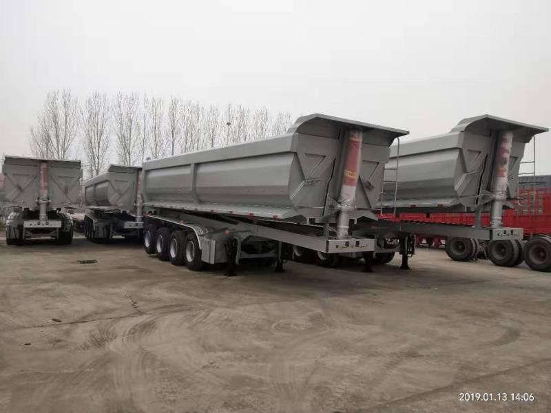 上海罐式后翻半挂车