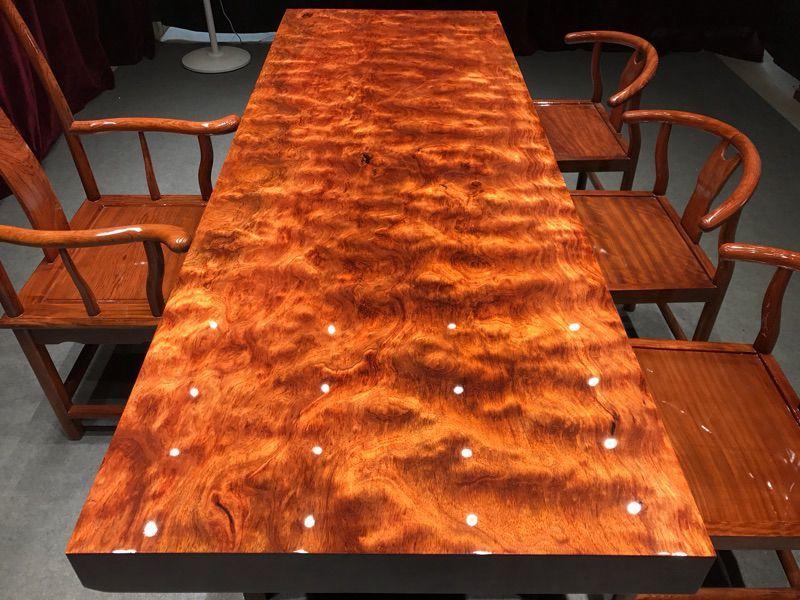 巴花大板原木红木实木桌面茶桌茶台书桌老板办公会议餐桌