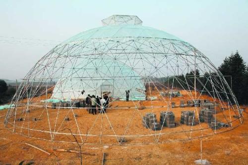 鸟巢温室建设与安装方法