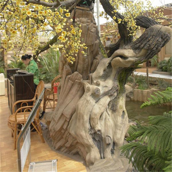 西安水泥假树制作