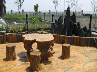 西安生态仿木坐凳