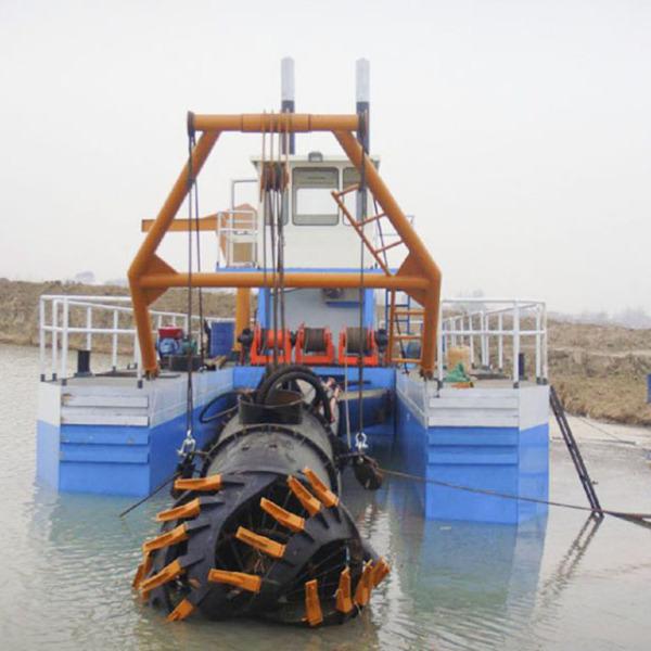 射吸式清淤船