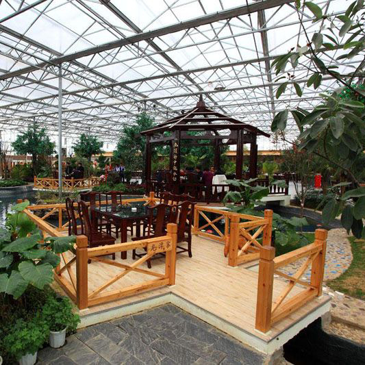 山东日光蔬菜大棚餐厅案例