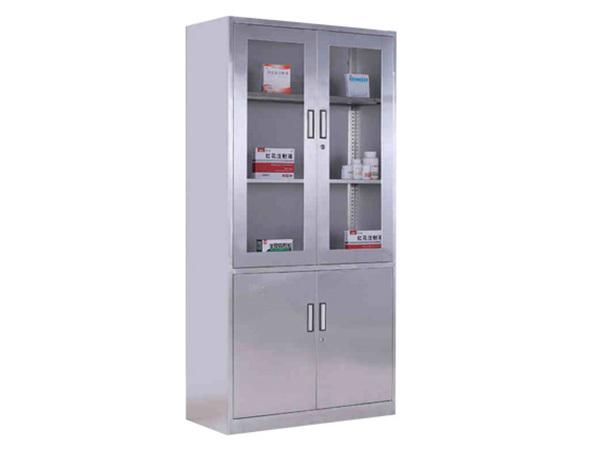 带储物柜式全钢药品柜