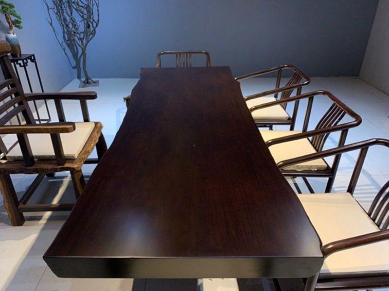 力荐中达木业价位合理的黑檀木大板桌