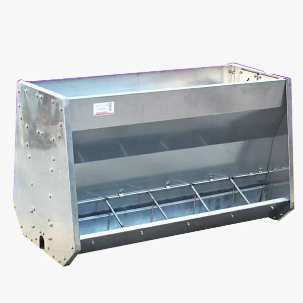 新疆养猪专用料槽生产厂家-供应山东质量好的不锈钢猪槽