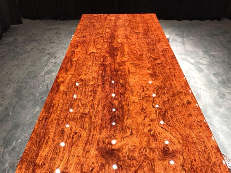 实木大板茶桌茶台原木餐桌整块巴花红木办公桌椅家用书桌
