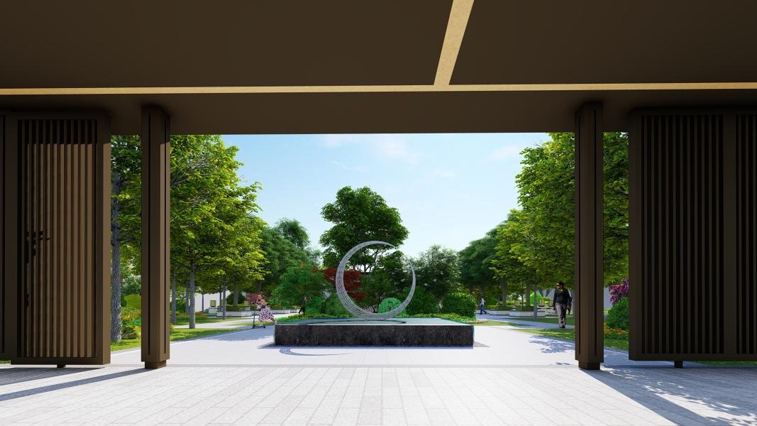 银杏温泉酒店地产景观设计