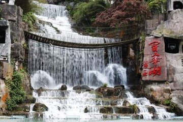 西安雕塑水景