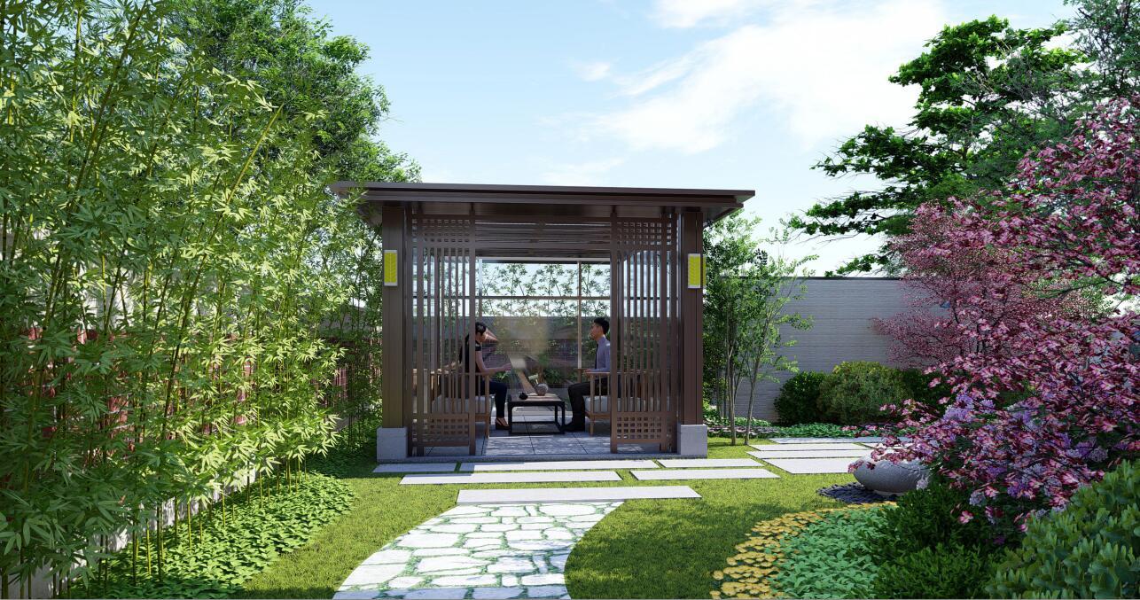 皇山城庭院设计