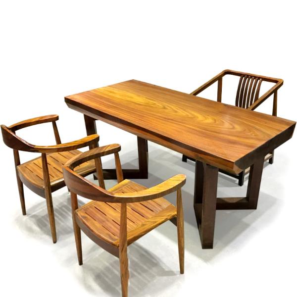 原木茶桌椅组合功夫茶台实木小茶艺桌整块大板桌红木家用喝茶套装